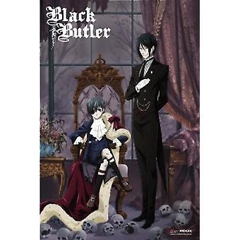 Svart Butler Sebastian och Ciel Anime affisch affisch Skriv