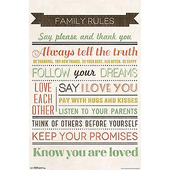 Family Rules Poster Poster Print