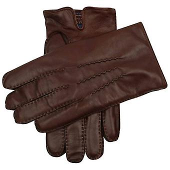 Dents Levens Cashmere Lined Hairsheep Leather Gloves - English Tan/Blue