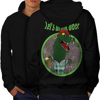 Crocodile Beer Cool Men BlackHoodie Back   Wellcoda