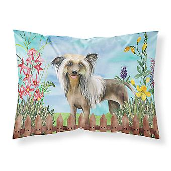 Chinese Crested Spring Fabric Standard Pillowcase