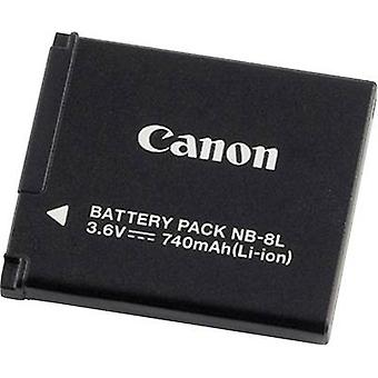 Camera battery Canon replaces original battery NB-8L 3.6 V 740 m