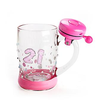 21st Birthday Sparkle Mug with Bell