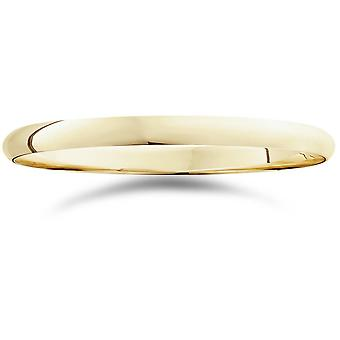 2mm Dome High Polished Wedding Band 14K Yellow Gold