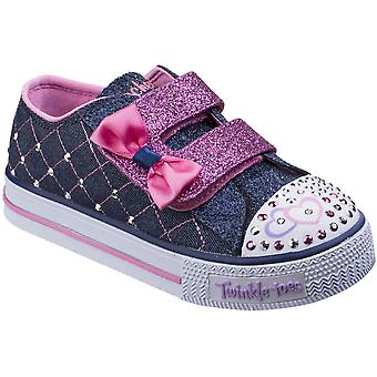 Skechers Girls Shuffles Glitter Crush Twinkle Glitter Bejewelled Shoes