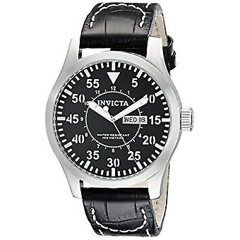Invicta Men's Specialty 11204 Black Leather  Watch