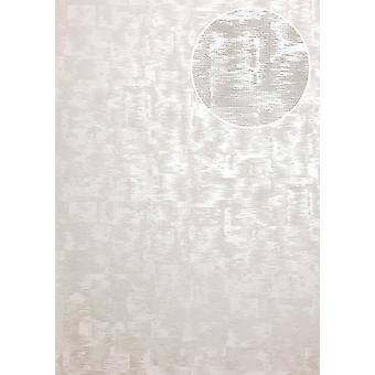 Tone on-tone wallpaper ATLAS XPL-593-5 non-woven wallpaper textured with abstract pattern shimmering grey cream white white perl 5.33 m2