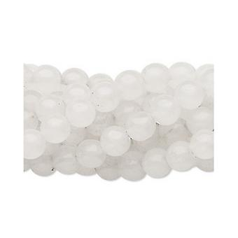 Strand 64+ White Snow Quartz 6mm Plain Round Beads FM1091