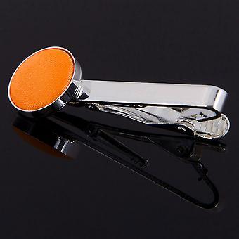 Fluoreszierend Orange Plain Krawattenklammer