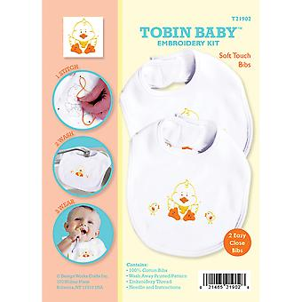 Duck Soft Touch Bibs Embroidery Kit-Set Of 2