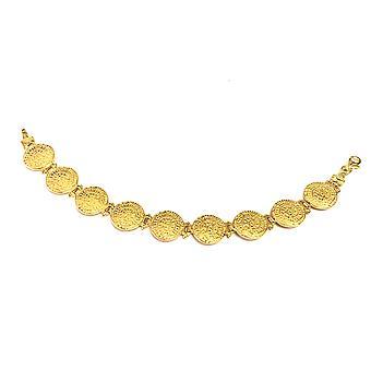 Sterling Silber 18k Gold überlagern Phaistos Disc Gliederarmband, 7