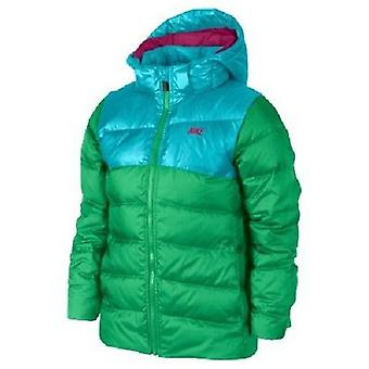 Nike Girls Alliance 550 Hooded Jacket Green/Blue SMALL