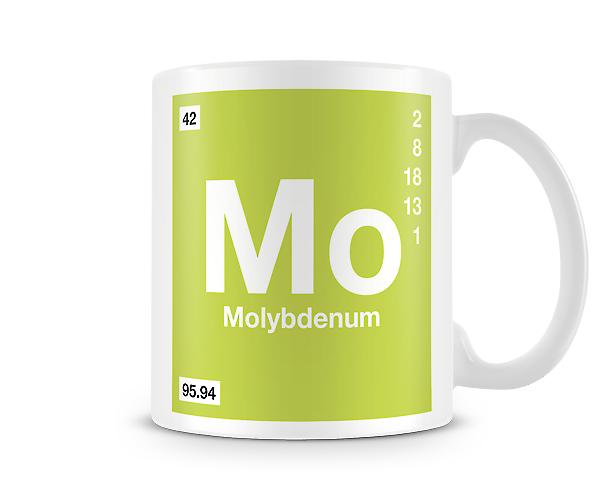Element Symbol 042 Mo - Molybdenum Printed Mug