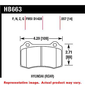 Hawk 'Performance Street' Brake Pads HB663N.557 Fits:HYUNDAI 2010 - 2010 GENESI