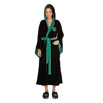 Official Harry Potter Slytherin Womens Bathrobe/Dressing Gown with Hood
