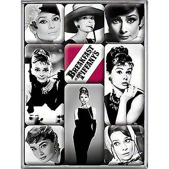 Audrey Hepburn Set In vak 9 Mini koelkast magneten