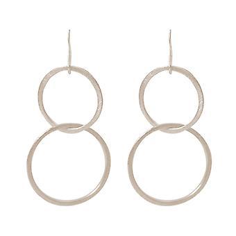 Gemshine - Damen - Ohrringe - Ohrhänger - Versilbert - Kreise - Minimalistisch - Geometrisch - Design - Scandi - 5 cm