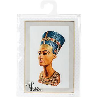 Nefertiti On Aida Counted Cross Stitch Kit-13.75