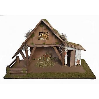 Crib Nativity scene wood Nativity NEVIO stable hand work for characters up to 12 cm