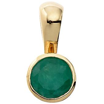petit tour Emeraude pendentif 333 1 or jaune or vert émeraude