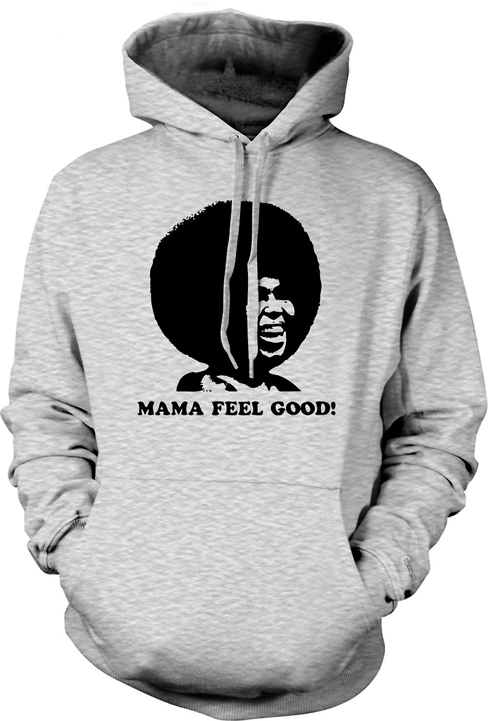 Mens Hoodie - Mama Feel Good - 70s - Soul Afro