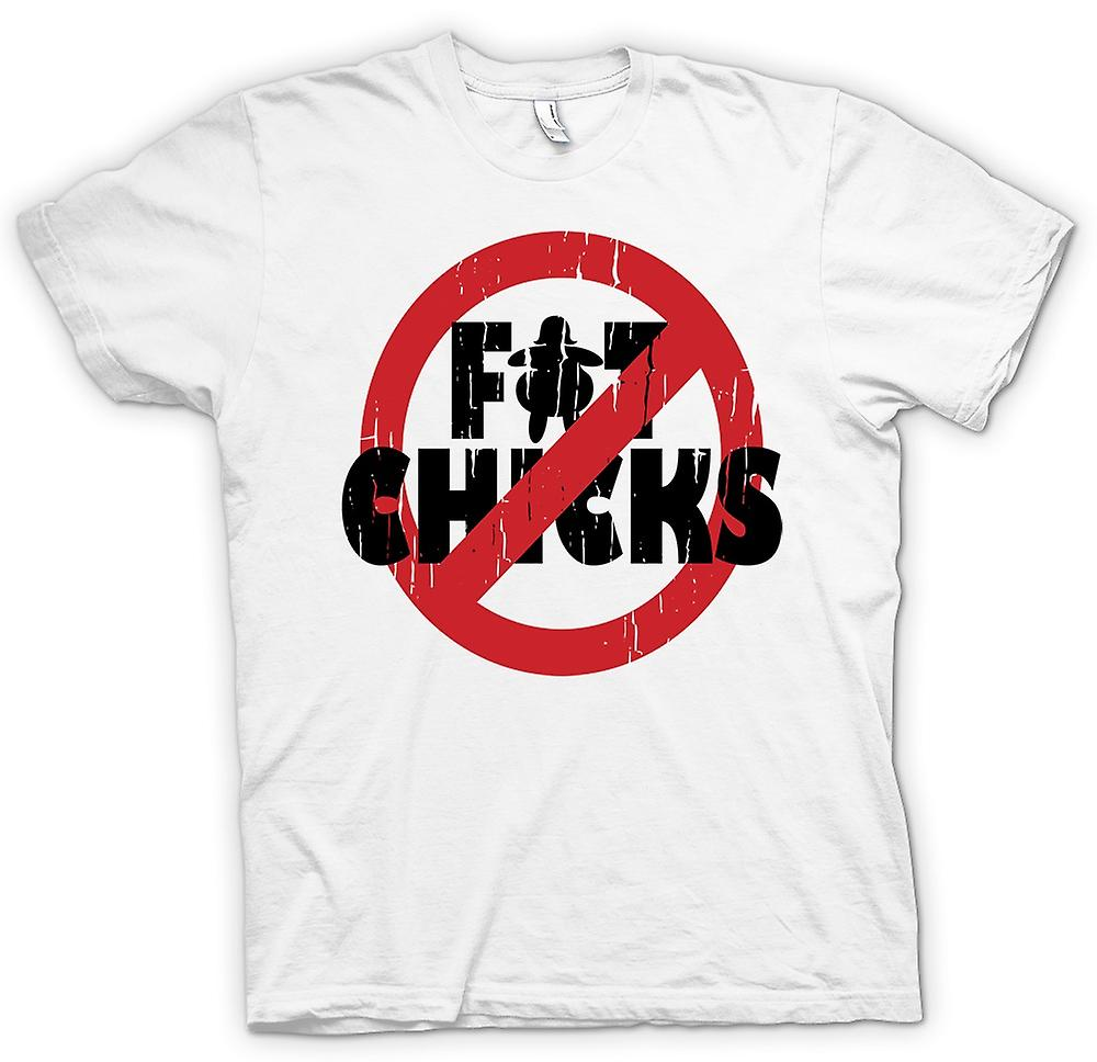 Hombres camiseta - No Fat Chicks - divertido crudo