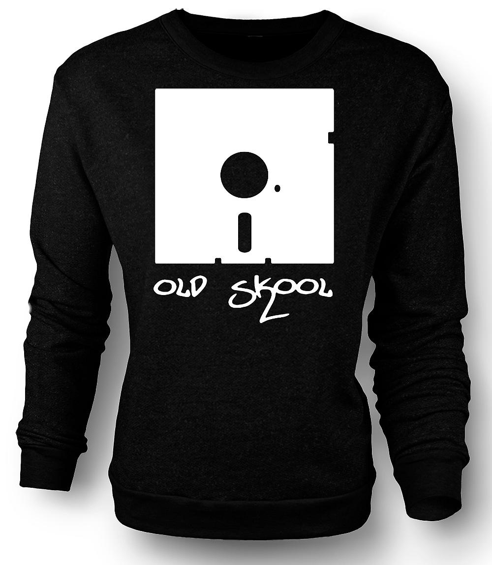 Mens Sweatshirt Old Skool Floppy Disc - Funny