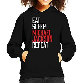 Eat Sleep Michael Jackson Repeat Kid's Hooded Sweatshirt