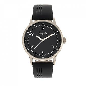 Simplify The 5700 Leather-Band Watch - Black