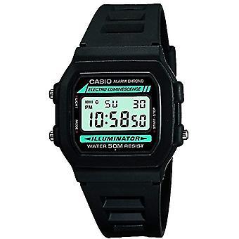 Casio digital watch with black resin strap W-86-1VQES