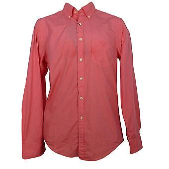 GANT Sunrise Poplin Mens Regular Fit Long Sleeved Shirt - Red