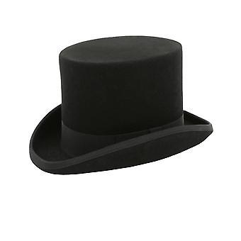 Dobell Mens schwarzen Hut 100 % Wolle formelle Hochzeit Rennen