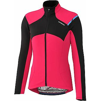 Shimano Pink Performance Thermal Winter Womens Long Sleeved MTB Jersey