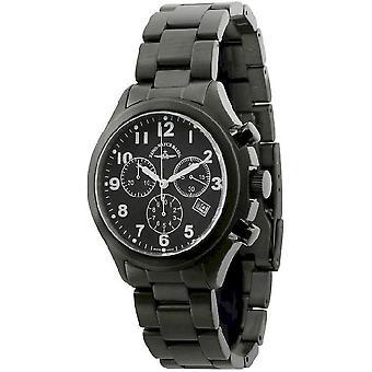 Zeno-watch reloj de aviador cronógrafo negro 926Q-bk-a1M