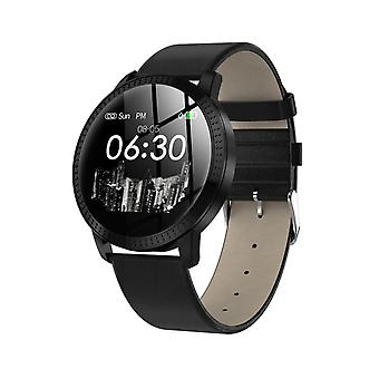 CF18 water resistant smartwatch-black PU leather