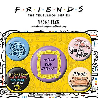 Friends Button Badges (Pack of 5)