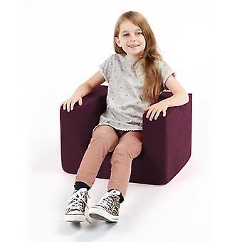 Cadeira confortável roxa da espuma do braço das crianças