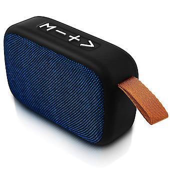 Bluetooth Speaker Micro-SD USB Socket Jack 3.5 Microphone FM Radio Blue
