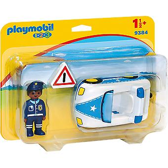 Playmobil 9384 1.2.3 Police Car with Trailer Hitch