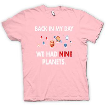 Womens T-shirt - Back In My Day We Had Nine Planets - Pluto