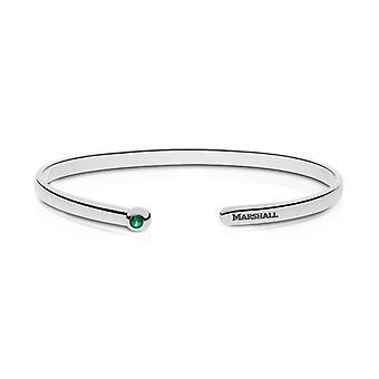 Marshall University Marshall Engraved Emerald Cuff Bracelet
