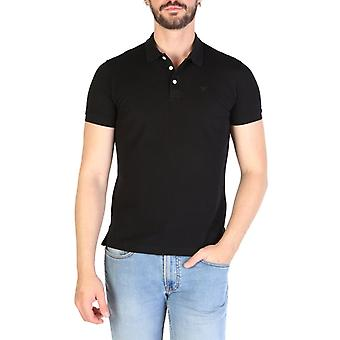 Emporio Armani Men Black Polo -- 8N1F998320