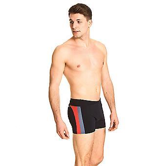 Zoggs Men Surfside Spliced Hip Racer Swimming Briefs - Black