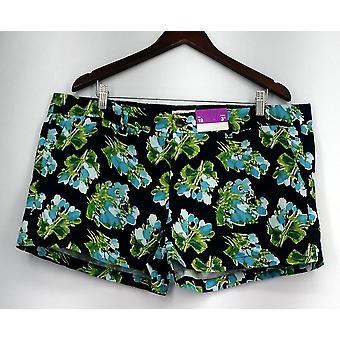 Merona Plus Shorts Floral Print w/ Poches Blue Womens