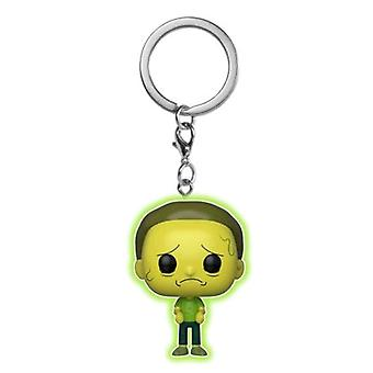 Rick and Morty Toxic Morty Glow US Pocket Pop! Keychain