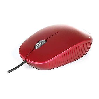 Ngs flamered optical mouse 1,000 dpi usb connection 3 red keys