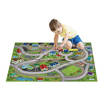 House of Kids Train Station Play Mat