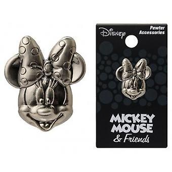Épingle - Disney - Minnie Mouse Head Pewter Lapel New Licensed 25171