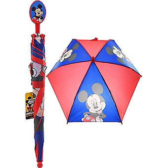 Umbrella - Disney - Mickey Mouse Blue/Red Kids/Boys New 274192
