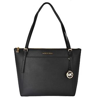 MICHAEL by Michael Kors Voyager Black Large Top Zip Tote